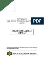 Sukatan Pelajaran Sejarah STPM