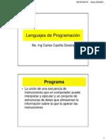 1. Lenguajes de Programacion