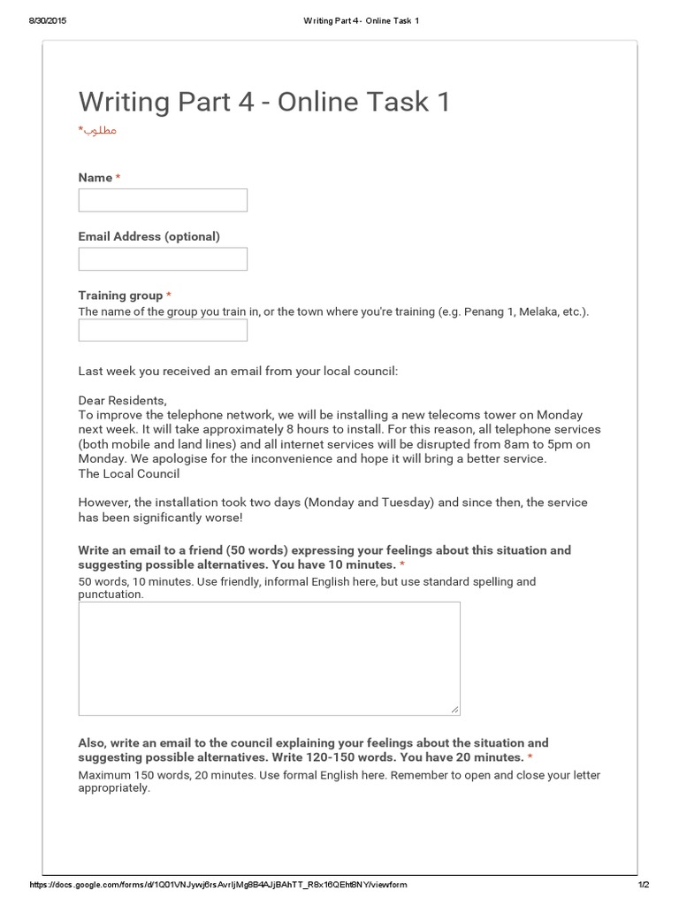 Aptis writing part 4 online task 1 altavistaventures Images