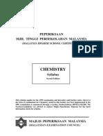 Sukatan Pelajaran Chemistry STPM