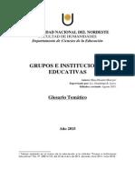 Glosario Tematico. Grupos e Inst. Educ. 2015