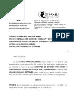 Demanda Divorcio-Olga Camacho