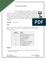 Grade 7 Mathematics Course Outline
