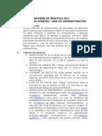 informe 1 Farmacología vías de administracion