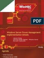 Windows Server Power Management Implementation Details