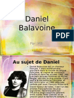 Daniel Balavoine- French Project