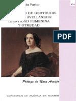 Brígida Pastor - El Discurso de Gertrudis Gomez de Avellaneda- Identidad Femenina y Otredad