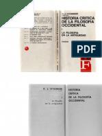 Historia Critica de La Filosofía Occidental I (La Filosofía en La Antiguedad)
