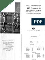 Vera Kostrovitskaya 100 Lessons in Classical Ballet