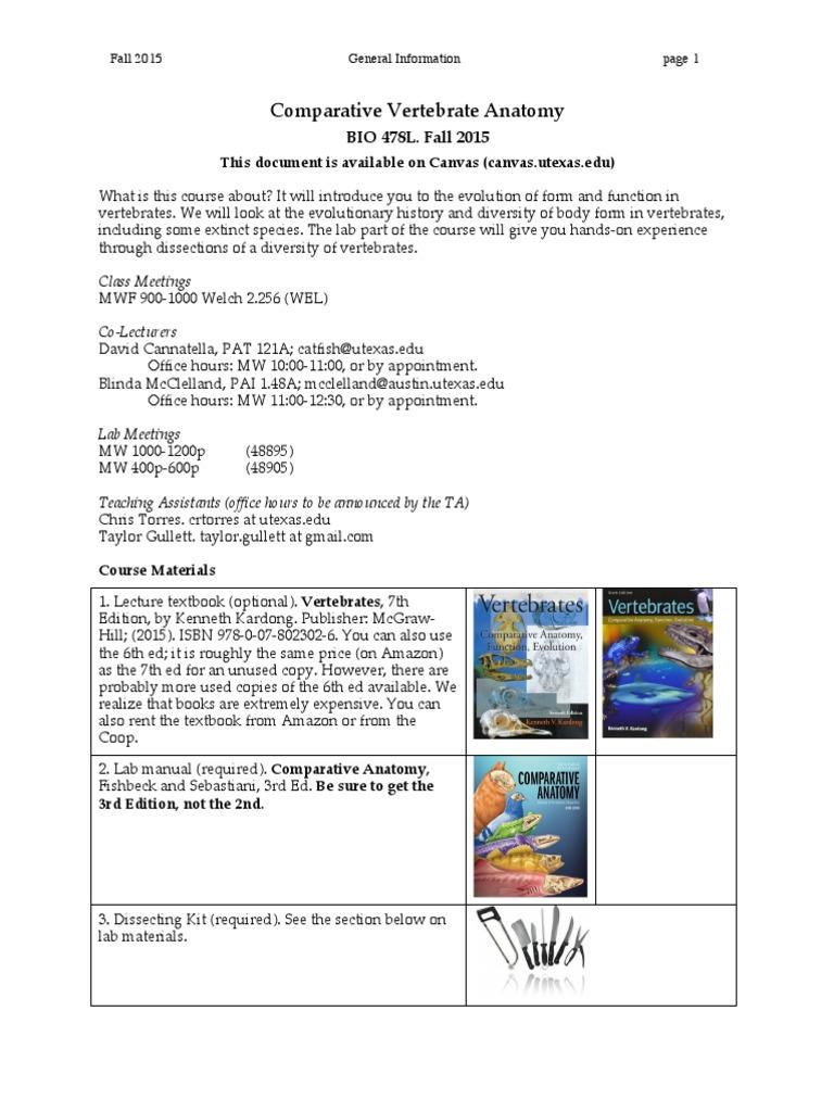 BIO478L GeneralInfo Fall2015 v1   Test (Assessment)   University Of ...