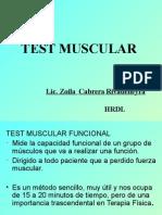 Test Muscular - Preinternado