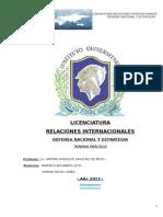 Trabajo Practico Defensa Nacional y Estrategia