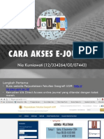 Cara Akses E-journal