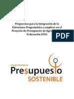 Propuestas para la reconfiguración de la Estructura Programática