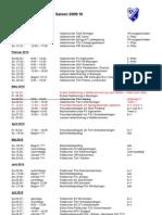 U9–Termine Rückrunde Saison 2009/10