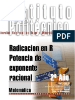 1203-15 MATEMATICA Radicación en Reales. Potencia de Exponente Racional