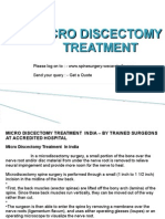Microdiscectomy,Microdiscectomy Spine Surgery,Microdiscectomy India