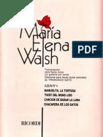 MARIA ELENA WALSH - Partituras de Canciones Infantiles - Album Nº 4 [Transcripción Para Flautas Dulces] (Por Gabolio)