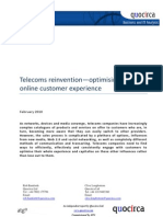 Telecoms reinvention—optimising the online customer experience
