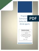 Estructura de Datos Programas 17-26 Ago