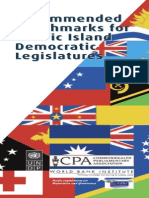 Commonwealth Parliamentary Association - Recommended Benchmarks for Pacific Island Democratic Legislatures