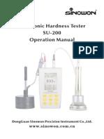Sinowon Ultrasonic Hardness Tester SU-200 Operation Manual En