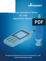 Sinowon Ultrasonic Hardness Tester SU-300 Operation Manual En