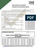 Caderno de Provas Sercomtel 2015 Advogado