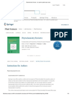 Phytochemistry Reviews - Incl