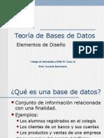 Teoria de Bases de Datos Sesion 1