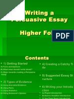 Writing a Persuasive Essay