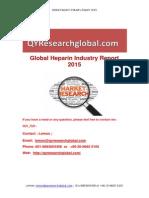 Global Heparin Industry Report 2015