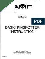 8270 Basic Pin spotter Instruction