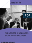 Expatriate Employees Working in Malaysia 30092006