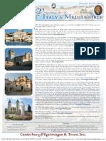 Pilgrimage 2016 Italy & Croatia