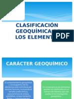 Clasificacion geoquimica