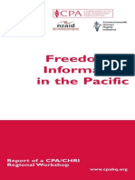 Commonwealth Parliamentary Association - Freedom of Information in the Pacific - September 2005