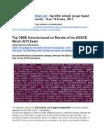 Www.thelearningPoint.net Top CBSE schools 2015