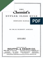Chemists Duplex Slide Rule
