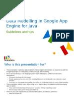 Data Modelling in Google App Engine for Java