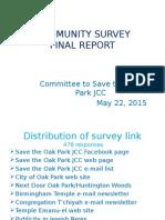 community survey report presentation revised