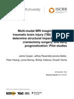 037 Multi Modal MRI Imaging in Severe TBI Patients FINAL 20150609
