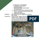 Report Workshop gas welding