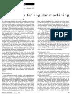 Fixtures for Angular Machining