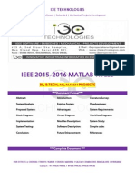 2015 - 2016 Ieee Matlab Project Titles