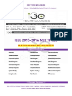 2015 - 2016 Ieee Ns2 Project Titles