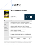 Meditation for Dummies Bodian en 8689