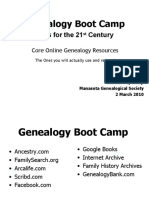 New Tools for 21st Century Genealogy