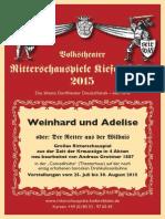 Ritterschauspiele Kiefersfelden 2015 WEINHARD UND ADELISE