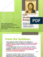 hsc sor 2014 christianity as a living dynamic religion